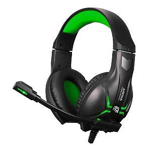 Fone Headset Gamer ELG HGAR Arena Preto e Verde