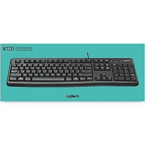 TECLADO K120 LOGITECH C/FIO USB PRETO