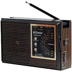 Rádio CNN-2730RU Livstar 4 Faixas AM/FM 5W
