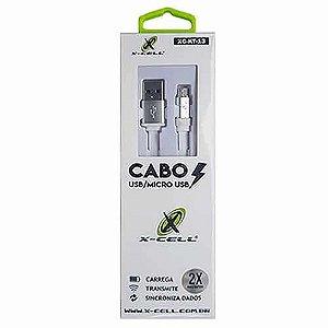 Cabo Micro USB para V8 X-Cell XC-KT-13 Branco1.2MT