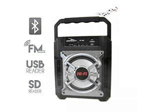 Caixa de Som Bluetooth Grasep D-S5 Prata 10W