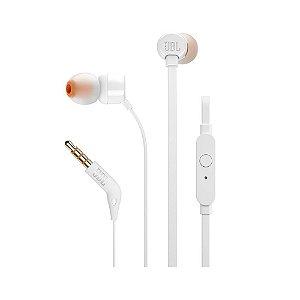 Fone de Ouvido Intra-Auricular JBL T110WHT Branco