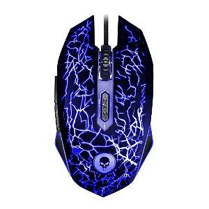 MOUSE GAMER 0447 LIGHT BRIGHT C/FIO USB PRETO/AZUL