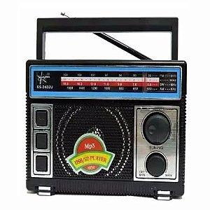 Radio Songstar SS-2402U 3 Faixas Am/Fm/Sw com USB.