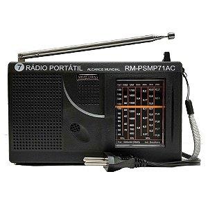RADIO RM-PSMP71AC MOTOBRAS 7 FAIXAS AM/FM 3W