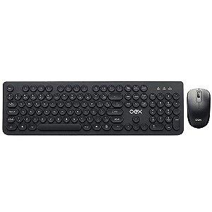 Teclado + Mouse sem Fio OEX TM410 Preto