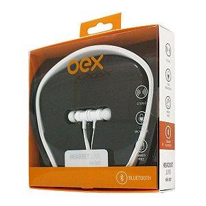 Fone Ouvido Bluetooth Intra Oex Live Branco HS302