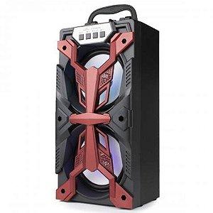 Caixa de Som Grasep D-bh4206 Vermelho 10W