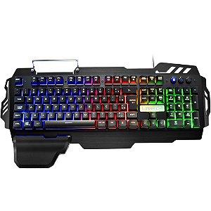 Teclado Gamer com LED Warrior Multilaser TC210