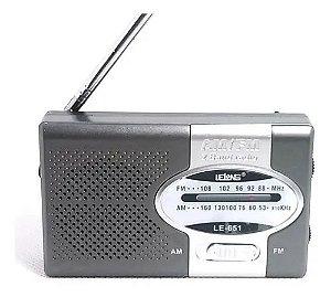 Rádio Lelong LE-651 2 Faixas Am/Fm 3W