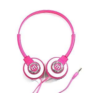 Fone de Ouvido Headset Kp-393 Knup Rosa