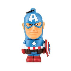 PEN DRIVE PD080 MULTILASER 8GB CAPITAO AMERICA