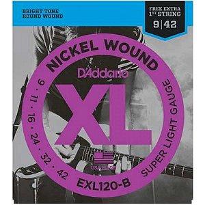 Encordoamento Aço Guitarra EXL120-B 0.09 D'Addario