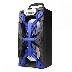 Caixa de Som Grasep D-bh4206 Azul 10W
