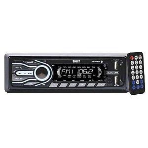 AUTO RADIO T500 SVART BLUETOOTH