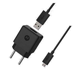 CARREGADOR FAST CHARGE MOTOROLA MICRO USB 10W