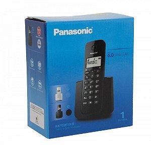 Telefone Panasonic Sem Fio ID KX-TGB110LBB Preto.