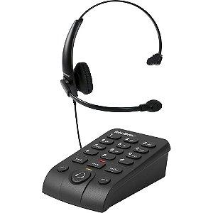 Telefone Headset com Fio Intelbras HSB-50 Preto