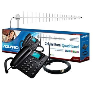 KIT TELEFONE DE MESA RURAL CA-4000 AQUARIO