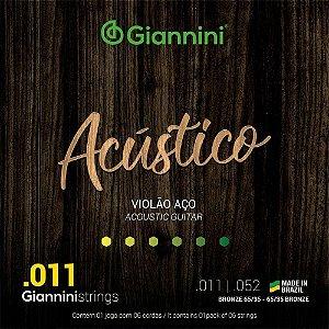 Encordoamento para Violão GESPW Giannini de Aço