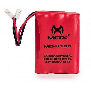 Bateria para Telefone sem Fio Mox MO-U135 600mAh