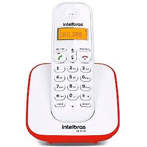 Telefone TS3110 Intelbras BCO/Vermelho sem Fio ID