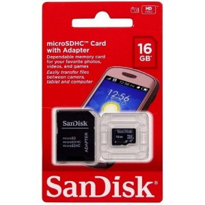 MEMORIA MICRO SD SANDISK 16GB C/ ADAPTADOR