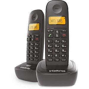 TELEFONE SEM FIO TS2512 INTELBRAS 1 RAMAL PRETO ID