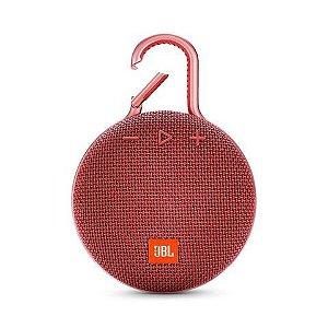 Caixa de Som Bluetooth JBL Clip 3 Vermelha 3.3W
