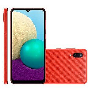 Smartphone Samsung Galaxy A02 32GB A022M Vermelho