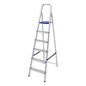 Escada Doméstica em Alumínio 6 Degraus MOR
