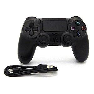 Controle PS4 Doubleshock Sem Fio Preto