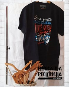 Camiseta Universitária - Zootecnia- Tio Patinhas - Preta - Basic