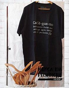 Camiseta Personalizada - Cafégasmo - Preta - Basic