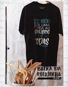 Camiseta Universitária - Biologia - Balance of Life - Preta - Basic