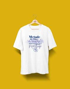 Camisa Universitária - Metade - Psicologia - PSICÓLOGO - Basic