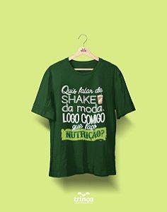 Camisa Universitária Nutrição - Shake, Shake, Shake - Premium