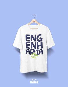 Camisa Engenharia de Produção - Desembola Aí - Branca - Premium