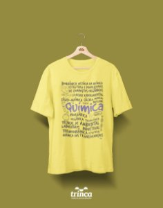 Camisa Química - Que Química - Amarela - Premium