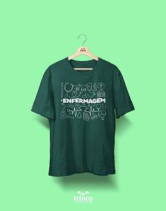 Camisa Enfermagem - Deixa Que Eu Cuido - Premium