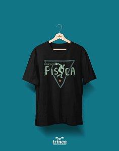 Camisa Educação Física - Que Físico - Preta - Premium