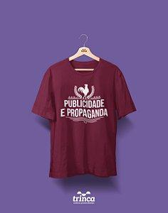 Camisa Publicidade e Propaganda - Publi - Bordô - Premium
