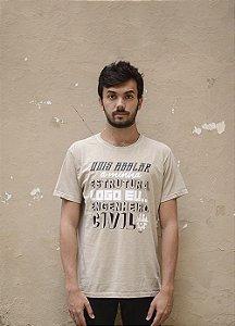 Camisa Engenharia Civil - Linha Stone - Areia