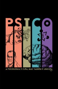 Camisa Psicologia - Cute But Psycho - Preta - Basic