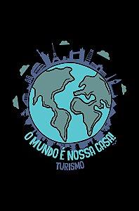 Camisa Turismo - Mi casa es su casa - Preta - Basic