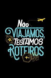 Camisa Turismo - Comer, rezar e amar - Preta - Basic