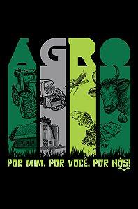 Camisa Agronomia - Agro - Preta - Basic