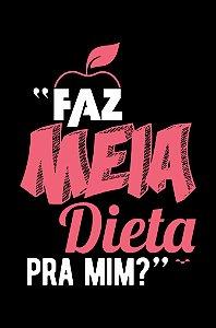 Camisa Universitária Nutrição - Meiota - Preta - Basic