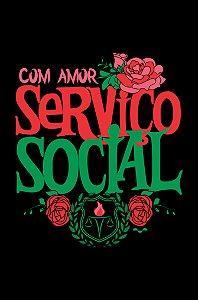 Camisa Universitária Serviço Social - E nada mais - Preta - Basic