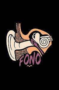 Camisa Universitária Fonoaudiologia - Fon - Preta - Basic